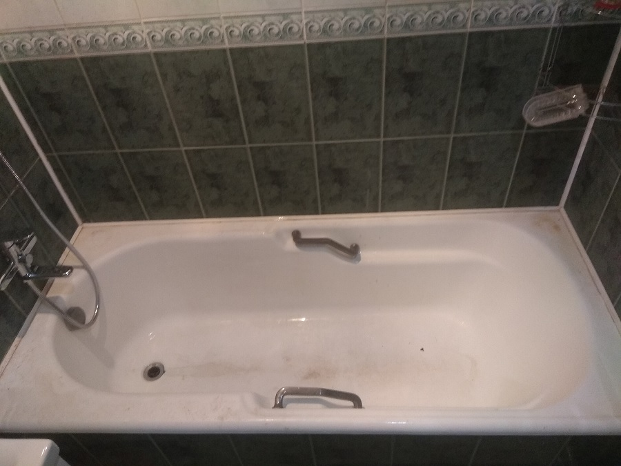 Ванна до реставрации литьевым мрамором