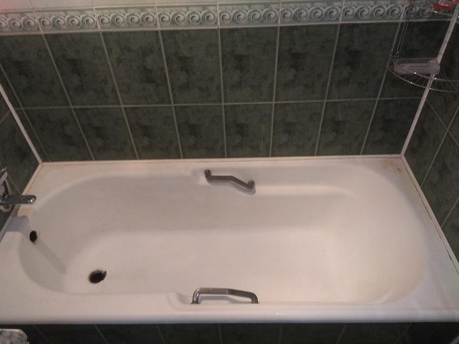 Подготовка ванны к реставрации литьевым мрамором